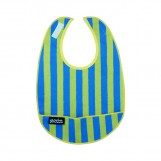 Coated organic cotton Bib Stripes | Mimi the Sardine