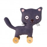 Little cat on wheels