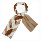 Scarf Stereograph brown white