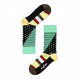 Happy Socks Dots Split black yellow