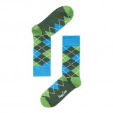 Argyle socks green