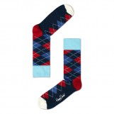 Argyle socks blue