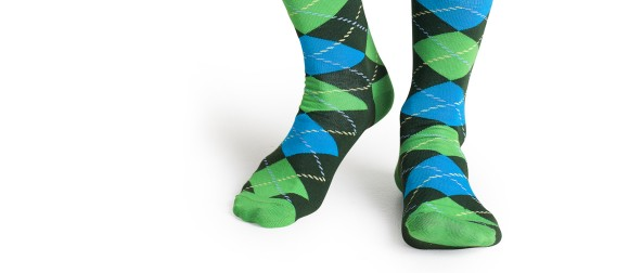 Argyle socks green1266-5854