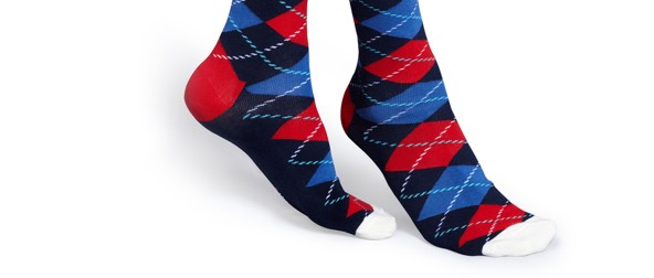 Argyle socks blue1267-5859
