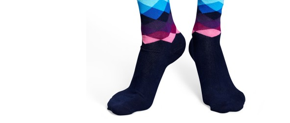 Faded Diamonds socks blue