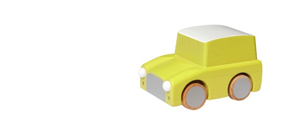 Kuruma wooden car yellow1278-5897