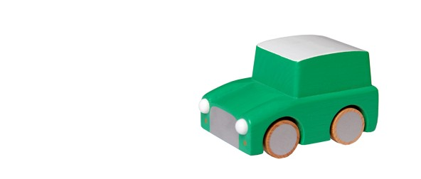 Kuruma wooden car green