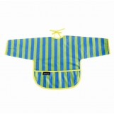 Stripes messy baby bib
