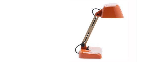 Desk lamp low orange