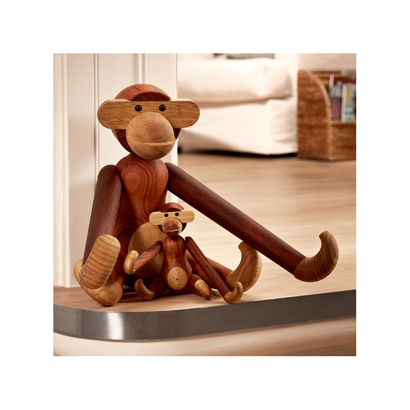 kay bojesen denmark wooden toy monkey large. Black Bedroom Furniture Sets. Home Design Ideas