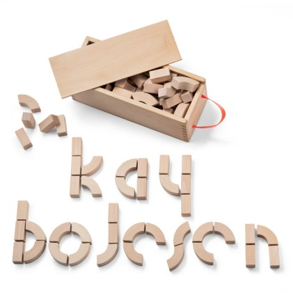 Alphabet blocks Kay Bojesen