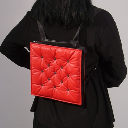 Kussen bag red