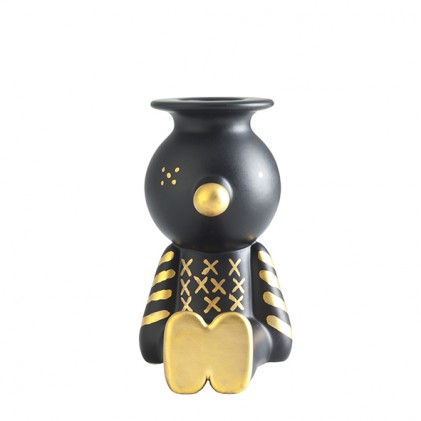 Pinocchietto candle holder black