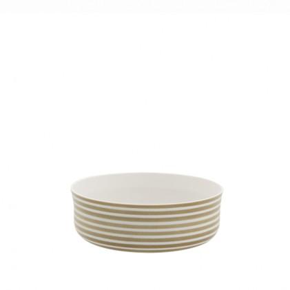 s.b. 23 bowl white brown stripes