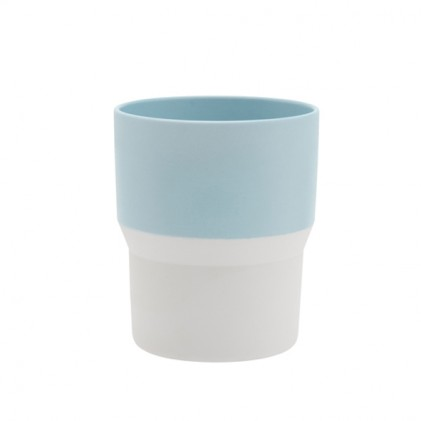 s.b. 44 mug light blue white
