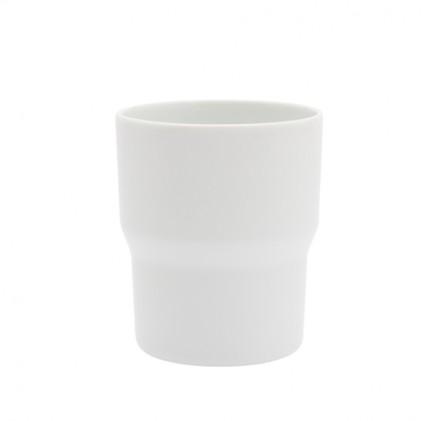 s.b. 47 mug white glazed