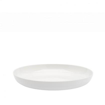 s.b. 16 deep plate white glazed
