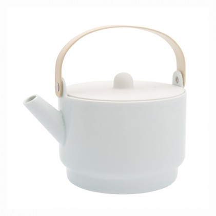 s.b. 54 tea pot white light blue