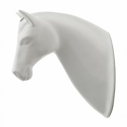 Horse flower pot white