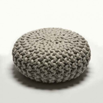 Urchin Pouf light grey