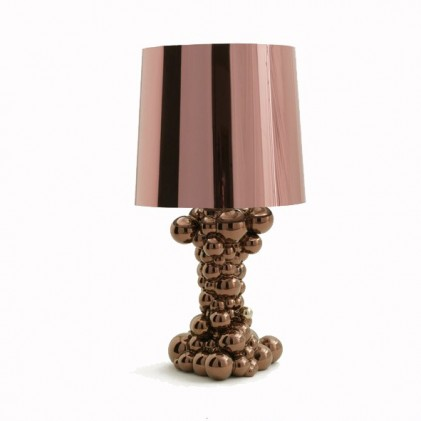 Bubbles lamp copper glass shade