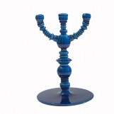 Ceramic candle holder  blue