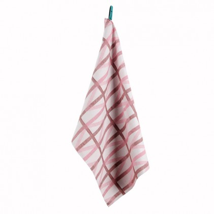 Raw Color glass cloth brown pink
