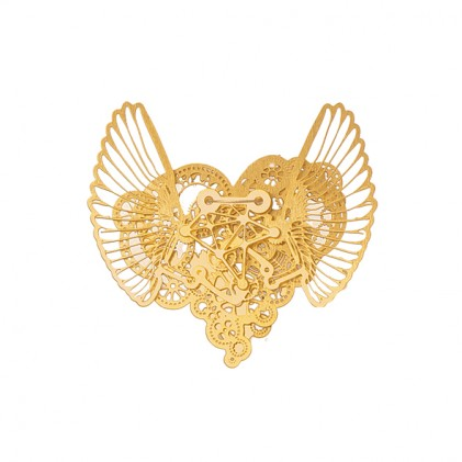 Necklace Clockwork Love Wings Gold small