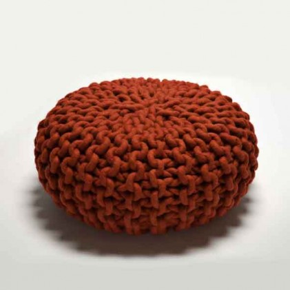 Urchin Pouf red